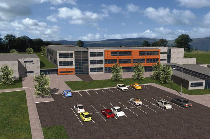 Illustration of new Post Primary School in Ferbane, Co Offaly, prepared for Panning Purposes.