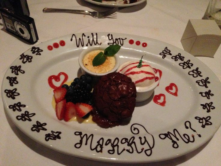 Proposal idea.  Beautiful surprise during dinner
