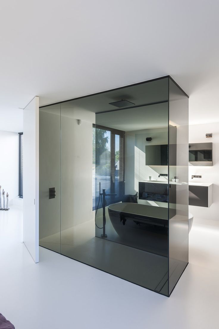 Architectenburo Bart Coenen Te Antwerpen Architect Van Moderne Woningen Badezimmer Innenausstattung Modernes Badezimmerdesign Zeitgenössische Badezimmer