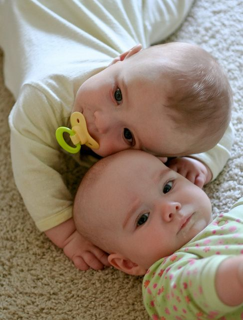 These twins are two of the cutest babies I've ever seen ...
