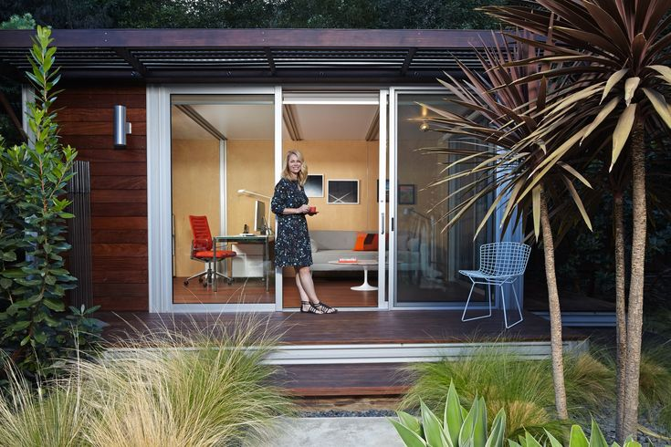 Luxe sheds put a little serenity in the back yard of a crowded house