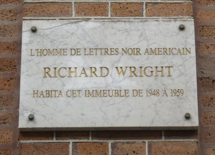 Plaque commemorating Wright's residence in Paris, at 14th Monsieur-le-Prince street
