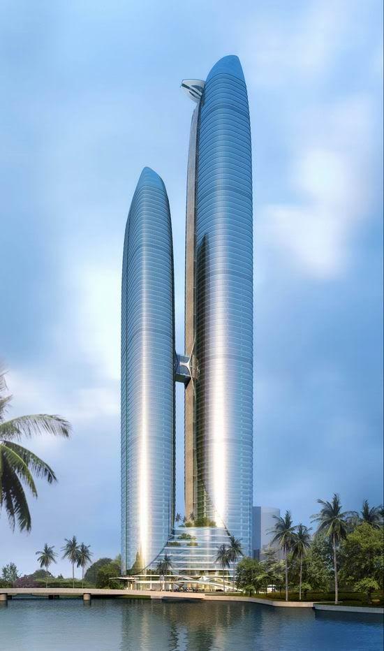 Nanning International Finance Center Tower, Nanning, China by AECOM :: 96 floors, height 386m