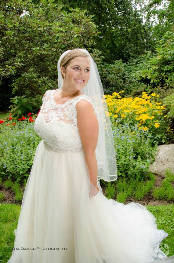 Plus Size Wedding Dress Silk lace and tulle by PureMagnoliaCouture, $2200.00
