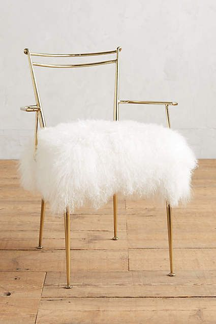 shag puff dressing chair #uptownchic #anthroregistry