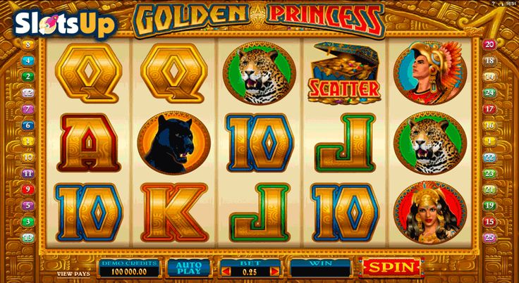 Impress Aztec princess with your best qualities and win a lot in the Golden Princess #freeslot! The main heroine of this Microgaming 5-reel, 25-payline video slot is a beautiful princess generous to all lucky players. Discover all advantages of the gameplay including Wild and Scatter symbols, Free Spins, Stacked Wilds, Mystery Pays, random Multipliers and the Gamble Feature. Start your rewarding adventures right now!