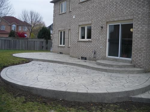 22 best stamped concrete patio ideas images on pinterest | stamped ... - Backyard Stamped Concrete Patio Ideas
