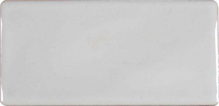 Whisper White 3 Inch.  X 6 Inch.  Handcrafted Glazed Ceramic Wall Tile (1 Sq. Feet.  / Case)