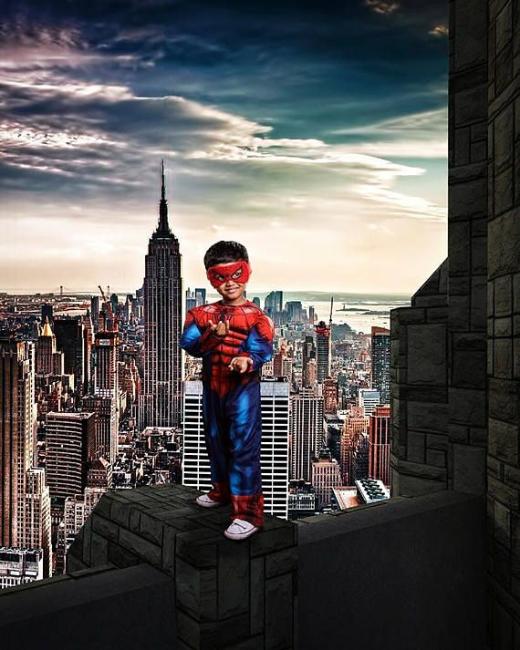 Spiderman Backdrop, Superhero Digital Background, Spiderman Cosplay
