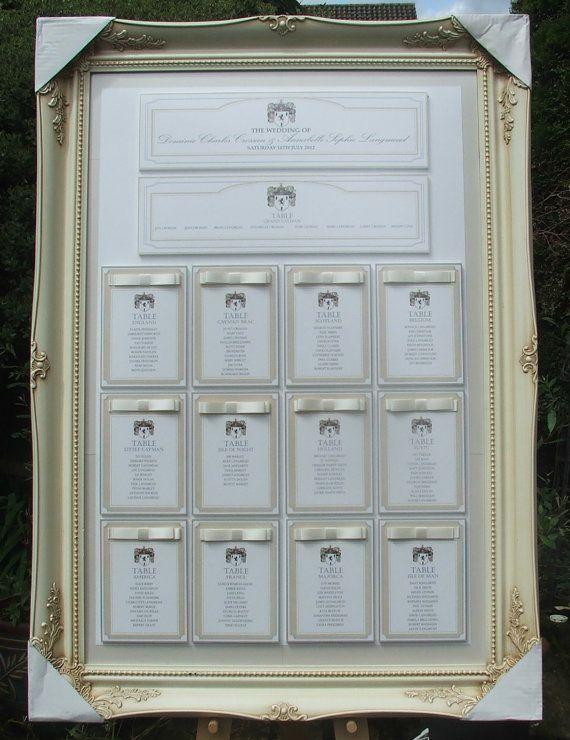 Framed Bespoke Table Plan  36 x 48 framed by StationeryStation, £155.00
