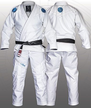 2016 WHITE AXIOM BJJ KIMONO - DRAGON WEAVE© TECHNOLOGY - MADE IN MAINE, USA - Origin USA