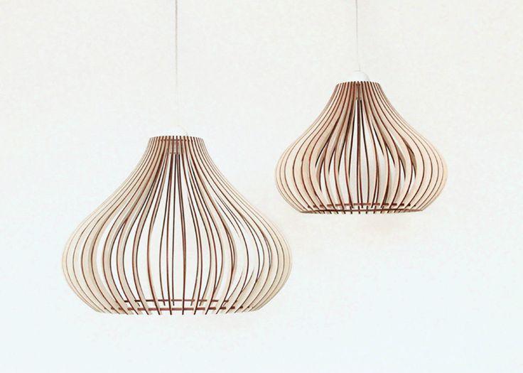Wood Lamp / Wooden Lamp Shade / Hanging Lamp / Pendant Light / Ceiling Lamp in Home & Garden, Lighting, Fans, Chandeliers & Ceiling Fixtures | eBay