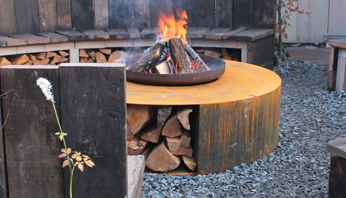 Corten fire place by abk-outdoor.com