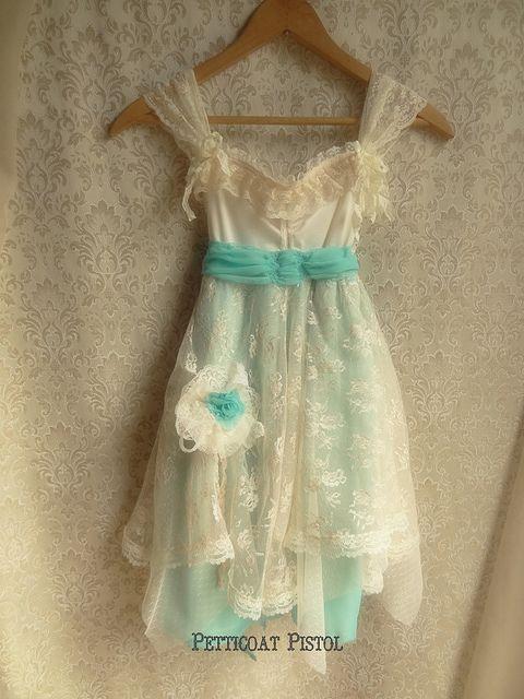 What a sweet, delicate Flower Girl Slip Dress!  Vintage or Rustic wedding!  #wherebridesgo