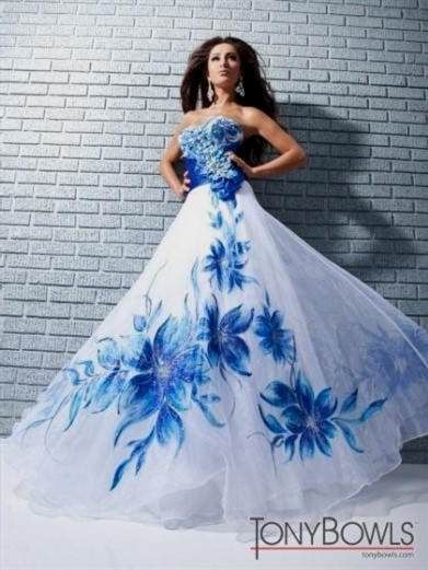 Best 25+ Blue and white prom dresses ideas on Pinterest | Blue and ...