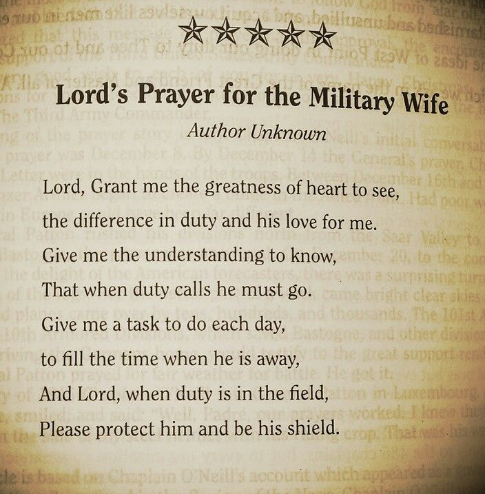 A prayer every military wife should say for her husband