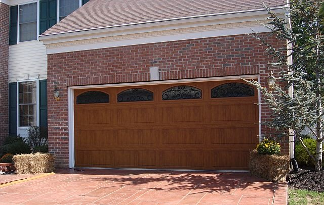 Clopay gallery collection steel garage door with ultra grain paint finish - Wood exterior paint collection ...