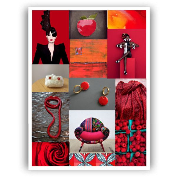 Red #44 by crystalglowdesign on Polyvore featuring art and modern