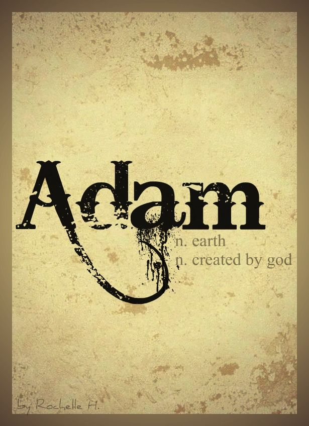 Baby Boy Name: Adam. Meaning: Earth; Created by God. Origin: Hebrew. http://www.pinterest.com/vintagedaydream/baby-names/