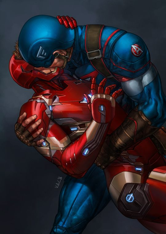 'While Captain America and Iron Man will mostly likely kiss and make up in time to save the world…' - Russo Bros on Infinity Wars (X) Marvel, I did Stony keyframe for you.