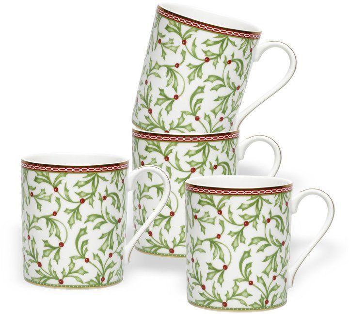 Mikasa Holiday Traditions Mugs, Set of 4