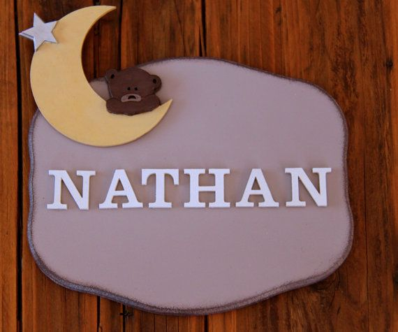 Plaque en bois décorative porte personnalisable par Elolittlebox