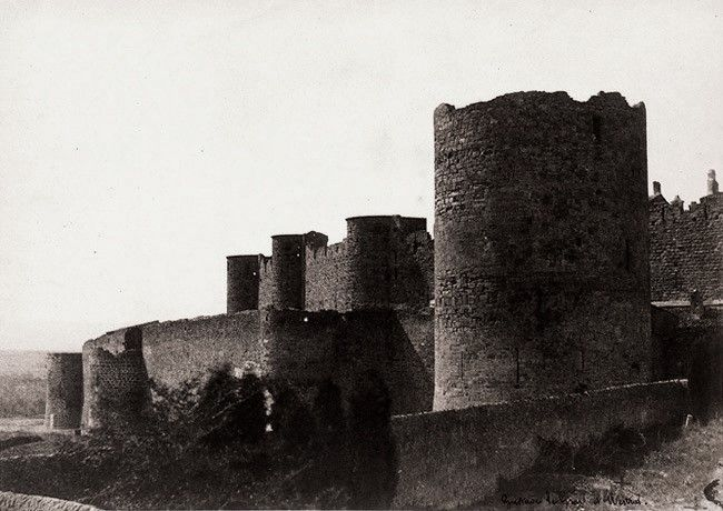 The Ramparts of Carcassonne, 1851