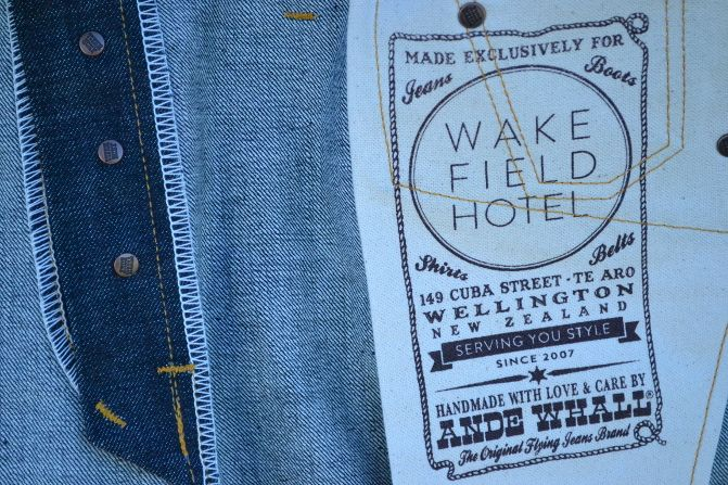 Here's a little sneak peek at our third project with world class denim maker Ande Whall. All of our jeans are handmade by Ande using classic artisan techniques and the best quality selvedge denim from Okayama, Japan.