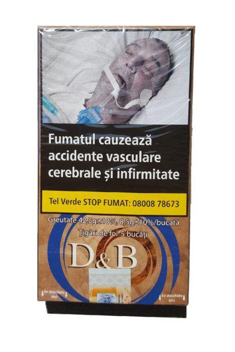 TUTUN - TIGARI DE FOI D&B 42.50 GR  Comenzi la www.tuburipentrutigari.ro