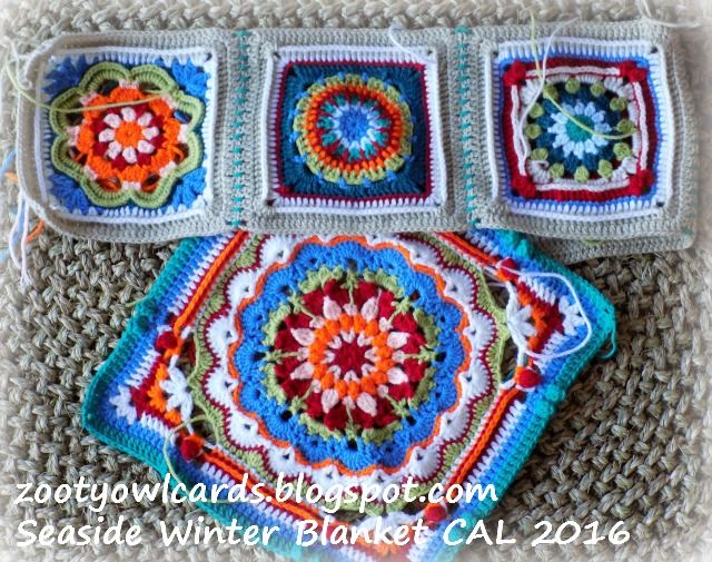 granny squares for a blanket but that middle one would make a nice centerpiece yes..