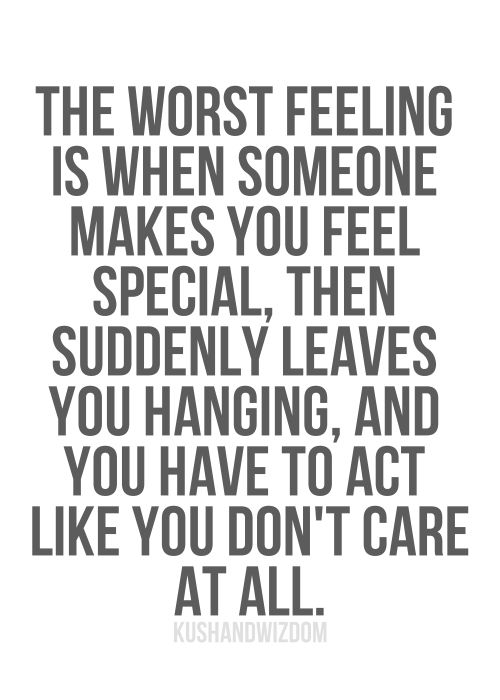 One of the worst feelings..