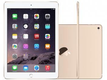 """iPad Air 2 Apple 64GB Dourado Tela 9,7"""" Retina - Processador M8 Câmera 8MP + Frontal"""
