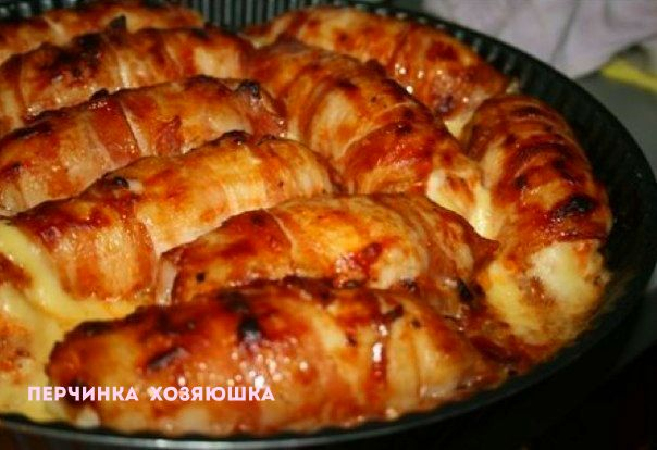 Рулетики из филе курицы с копченым сыром - Перчинка-хозяюшка