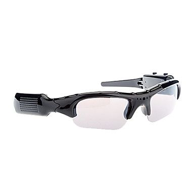 Fashion Multifunctional Mobile Camera MP3 Glasses with Video Recorder and TF Card Reader (Black) – USD $ 15.99