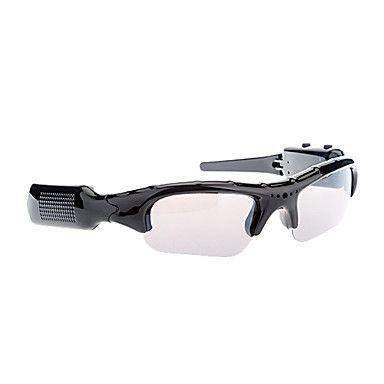 Óculos Moda multifuncional móvel da câmera MP3 com gravador de vídeo e leitor de cartão TF (Preto) – EUR € 19.95