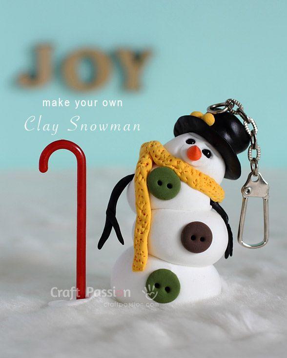 Snowman Clay Charm