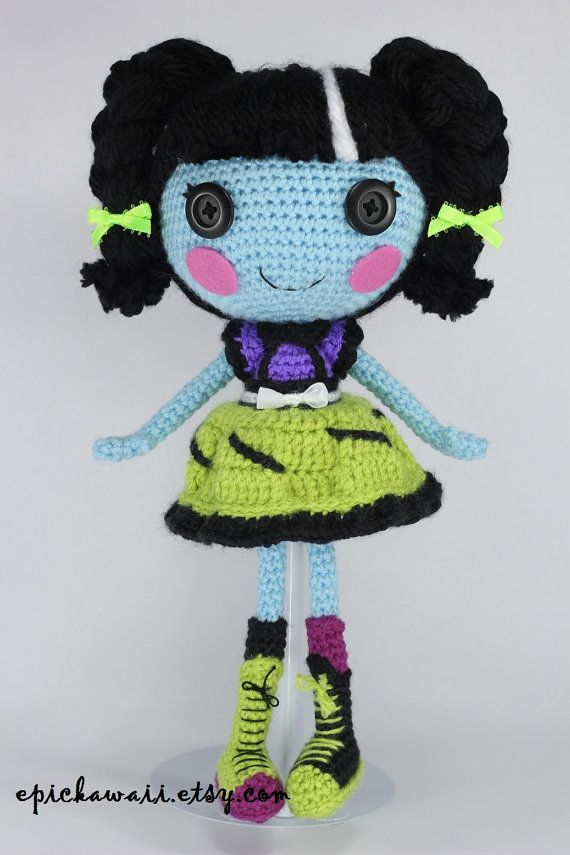 PATTERN: Lalaloopsy Scraps Stitched N Sewn Crochet Amigurumi Doll, $6.99