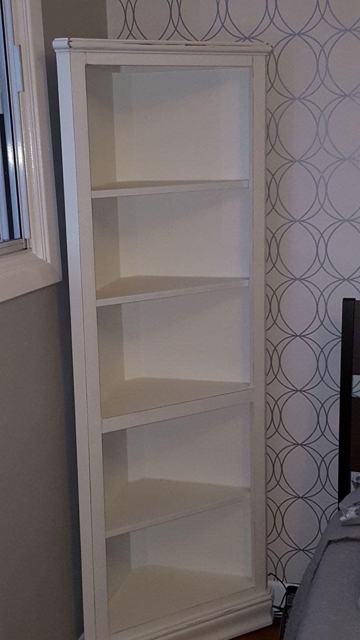 Oak corner cabinet refinished and lightly distressed