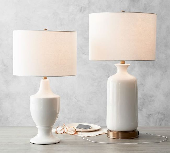 Your Perfect White Lamp 25 White Lamps To Make A Statement In 2020 Table Lamp Bedside Lamp Glass Table Lamp