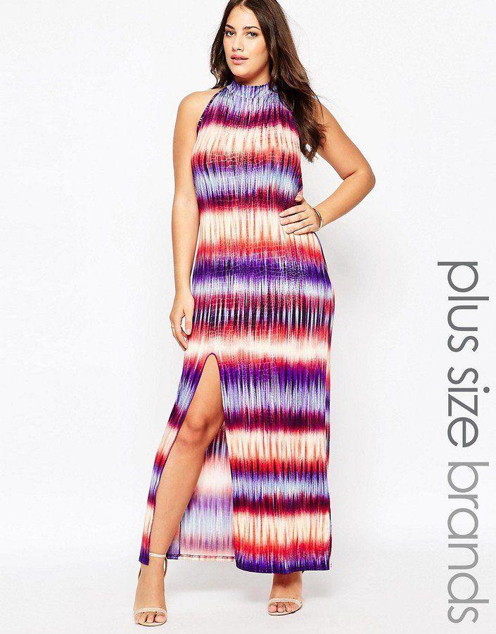 Pin for Later: 79 Robes Longues Super Confort Pour Cet Été  Praslin Plus - Maxi robe effet tie-dye à rayures - Multi (67€)