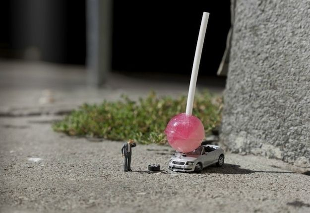 Community: New Miniature Scenes By Slinkachu
