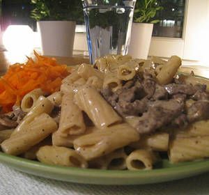 Snabb och god pasta med lövbiff