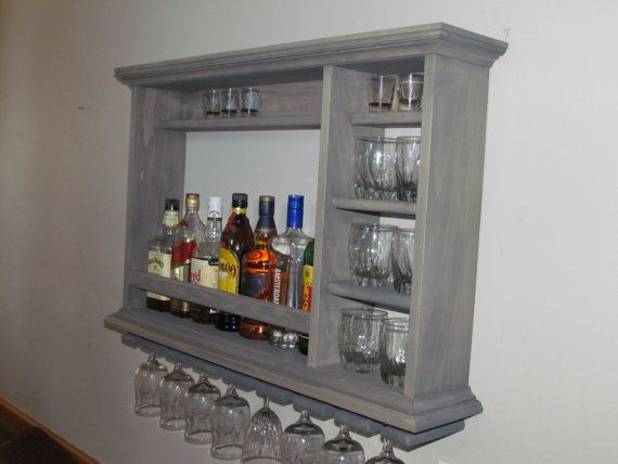 Mini Bar Weathered Gray 3'x2' minimalist style wine by DogWoodShop