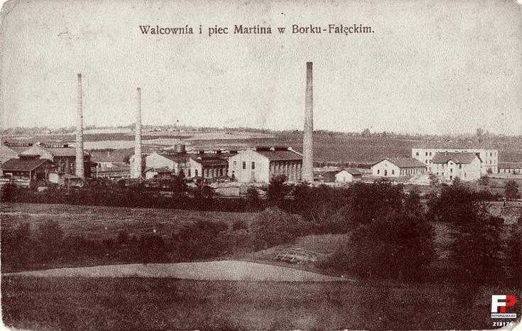 """Lata 1905-1915 , Walcownia Juliusza Epsteina, od 1919 r. """"Huta Żelazna Kraków""""."""