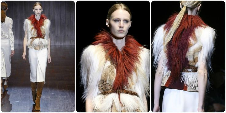 Faux fur fashion spring/summer 2015 - Gucci