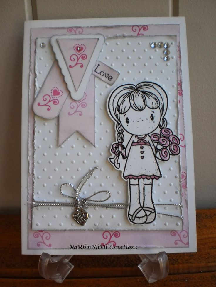 CC Designs - Rosalie with Roses Bridesmaid Card - made by Shell