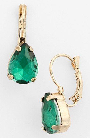 Tasha Teardrop Emerald and Gold Earrings