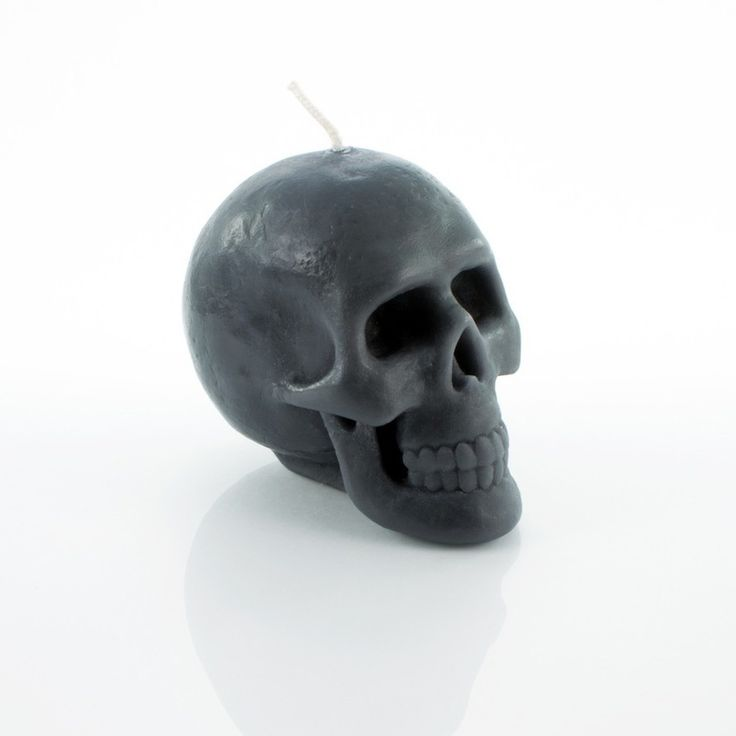 Chocolate grey-black scented skull candles by HILDSTORE. #skull #skullcandle #black #candle