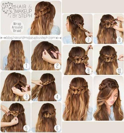 Fläta långt hår, braid tutorial