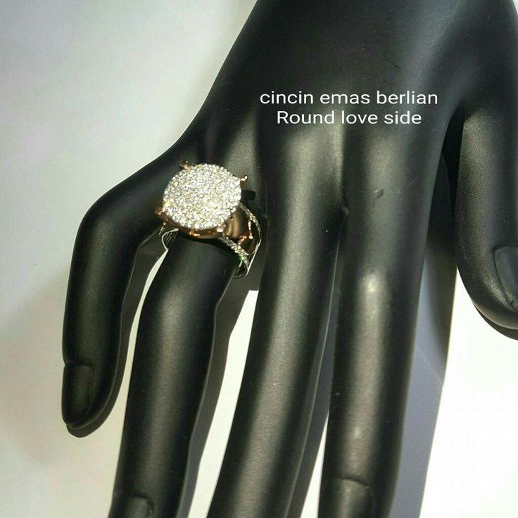 New Arrival🗼. Cincin Emas Berlian Round View Love side💎💍.   🏪Toko Perhiasan Emas Berlian-Ammad 📲+6282113309088/5C50359F Cp.Antrika👩.  https://m.facebook.com/home.php #investasi#diomond#gold#beauty#fashion#elegant#musthave#tokoperhiasanemasberlian